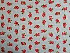 Blue fat quarter half metre and metre floral rose fabric 100% cotton sale