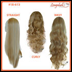 3/4 WIG #18-613 BLONDE MIX Curly Wavy Straight Clip in Hair Piece Long