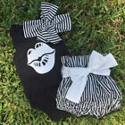 3pcs Toddler Infant Girls Boys Outfits Headband+T-shirt+Pants Kids Clothes Set