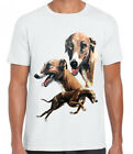 New Womans Mens Unisex Greyhound Dog Graphic Printed Cotton T Shirt