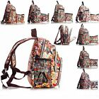 Big Handbag Shop Unisex Zip Pockets Cartoon Lightweight Small  Backpack Bag