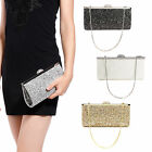 WOMENS LADIES PARTY EVENING CLUTCH BAG GLITTER SHIMMER STYLE HANDBAG PROM PARTY