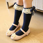 Baby Girl Toddler Kids Knee High Length Cotton Socks Bow Lace Frill 1-5 Years TP