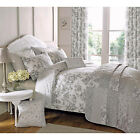 French Vintage Rose Duvet Cover with Reversible Patchwork in Slate Grey