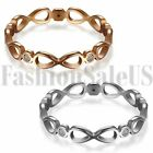 New Women's Stainless Steel Love Infinity Ring Wedding Promise Engagement Bands