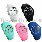Fashion Jelly Silicone Strap Sport Quartz Analog Womens Girl Ladies Wrist Watch image