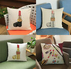 Luxury Brands Hand Painted Lipstick Design Pillow Case Home Decor Cushion Cover