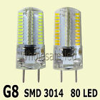 G8 Dimmable 5W 80 SMD LED Light Silicone White / Warm 110V 220V AC Bulb Samsung