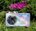 Pet Dog or Cat Memorial Slate Personalised Plaque with choice of verses & colour