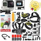 GoPro HERO 4 Silver Edition Touchscreen + 40 Pcs Accesssory Package Bundle!