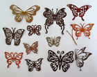 Intricate Butterfly Butterflies Paper Die Cut Embellishments scrapbooking 12 pc
