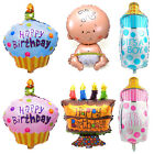 """Fab Baby Girl Boy First 1st Birthday Cake /40"""" Number 1 Shape Foil Balloon Decor"""