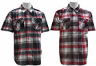 Men's | Ablanche | Short Sleeve Plaid Woven Shirts | XL to 6X - See size chart