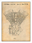 Harley Davidson Motorcycle Evolution Engine Patent Print Art Poster 18 X 24 $24.99 USD
