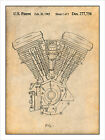 Harley Davidson Motorcycle Evolution Engine Patent Print Art Poster 18 X 24 $33.22 CAD on eBay
