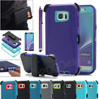 Heavy Duty Case W/ Belt Holster Clip Stand Cover For Samsung Galaxy Note 5/ S6