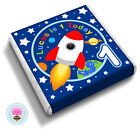 Personalised Space ROCKET Boy's Birthday Party Bag Favour Chocolates Candy