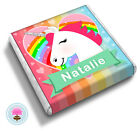 Personalised UNICORN Girl's Teens Friend Birthday Gift Party Favour Chocolates