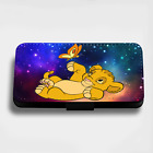 CUTE LION KING SIMBA GALAXY STARS FLIP PHONE CASE COVER WALLET CARD HOLDER