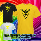 TEAM INSTINCT T SHIRT yellow gamer geek nerd Poke mon go comic con trainer ball