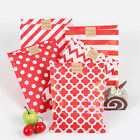 125pcs Colorful Polka Dot/ Chevron/ Striped/Honeycomb Treat Paper Favor Bags