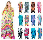 Ladies Printed Long Caftan Plus Size Women Girl Gown Tunic Kaftan Maxi Dress