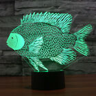 Dolphin Illusion 3D LED Acrylic Night Lights Touch Switch Desk Lamp 7 colors USB