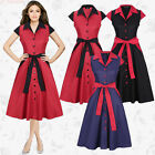 2017 New Spring Buckle Women V-neck Lapel Patchwork Short Sleeve Casual Dress