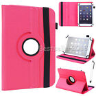 "For Various 7"" 8"" 10"" Tablet PC 360° Rotating Universal Leather Case Cover + Pen"