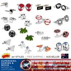 Star Wars Stormtrooper Superman Iron Man PacMan Superhero Novelty Cufflinks $7.45 AUD