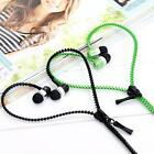 Headphone Earphone Earphones Mic In-Ear Zip Zipper Stereo Handsfree Tangle Free