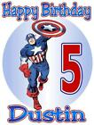 CAPTAIN AMERICA BIRTHDAY T-SHIRT Personalized Any Name/Age Toddler to Adult