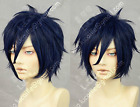 Cos AonoExorcist Okumura Rin Cosplay Dark Blue Full Wig