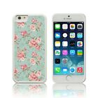 TPU Silicone White Shabby Chic Pink Roses Case for all Apple iPHONE models