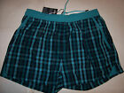 NEW HUGO BOSS CATSHARK blue plaid swim trunks board shorts Medium Large or XL