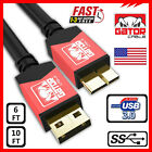 Samsung Galaxy Note 3 S5 Micro USB 3.0 Cable Data Charger Cord SYNC HDD 6FT 10FT фото