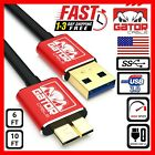 Samsung Galaxy Note 3 S5 Micro USB 3.0 Cable Data Charger Cord SYNC HDD 6FT 10FT