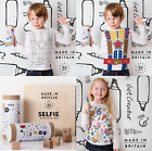 Girls Top Boys Top Colour In Selfie Top Gift Box With Fabric Pens Age 2-10 Yrs