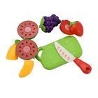 6pcs Food Fruit Vegetable Cutting Pretend Play Toy Children Kitchen Toys Sets Mt