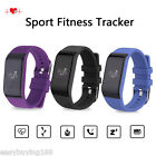Smart Sport Bracelet Heart Rate Fitness Tracker Bluetooth Watch For Android IOS