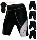 Mens Bicycle Biking 3D DI-Molded Padded High Waist Cycling Shorts 6 Panel