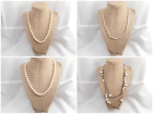 4 Pretty Vintage-Now Jewelry Untested White Cream Pink Tint Faux Pearl Necklaces