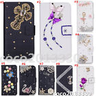 Magnetic Bling Luxury Diamonds Crystal PU Leather wallet flip Stand Cover Case I