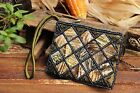 Handmade Beaded Coin Purse Small Pouch Shell Clutch Zip Make Up Cute Girls Strap
