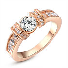 Crystal Rose Gold Diamond Ring Bilateral Wedding Rings For Women Fashion Jewelry