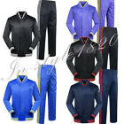 2017 Men's Running Jogging Basketball Tops Pants Jackets Training Suit Set Zip