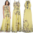 UK Womens Long Maxi Dress Prom Evening Party Summer Beach Boho Holiday Dresses