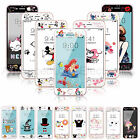 Disney Cartoon Soft edge Color Tempered Glass Film Screen Protector For iPhone 7