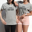Hot Best Friend Sister Women T-Shirt Girl Casual T Shirts Sport Tops Tee S-3XL