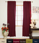 RETURNED ITEM! Rod Pocket Thermal Insulated Blackout Curtain 74 Inch Length Pair
